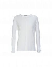 WORTHWHILE: Long sleeved t-shirt in white