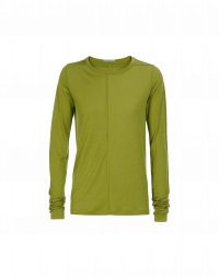 WORTHWHILE: Long sleeved t-shirt in olive green