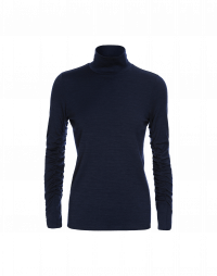 ABLE: Long sleeve jersey t-shirt in navy stretch wool