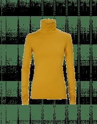 LOGICAL: Top a collo alto in jersey color zafferano