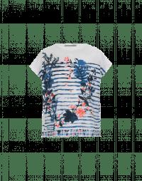 AMUSE: T-shirt con stampa rigata e floreale