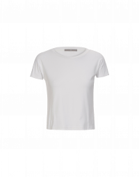 VOW: T-shirt in jersey bianco