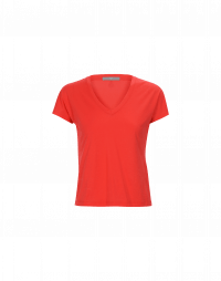 VERIFY: T-shirt a V in jersey rosso
