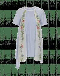 ENCHANT: Maglia con pannelli multipli in jersey e voile stampato