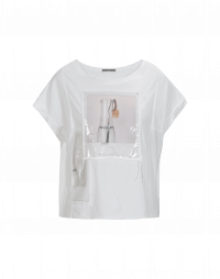 GREET: T-shirt con stampa lucida