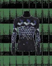 MAGIC: Optic print fine wool turtleneck