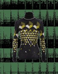 MAGIC: Maglia in lana con stampa geometrica