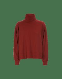 RESHUFFLE: Maglia a collo alto in jersey rosso autunno