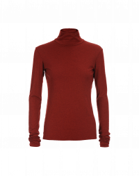 MAGIC: Dark red roll neck top