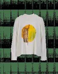 MOTTO: T-shirt a maniche lunghe con foglia stampata