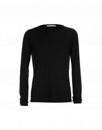 WORTHWHILE: Long sleeved t-shirt in black