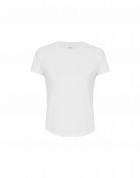 ABSENT: White cotton jersey t-shirt