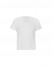 TOUCH: Short sleeved t-shirt in fine white jersey