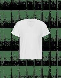 TOUCH: Weißes T-Shirt mit kurzen Ärmeln