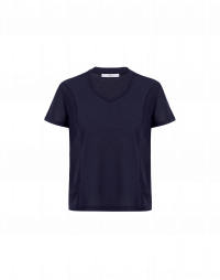 TOUCH: Short sleeved t-shirt in fine navy jersey