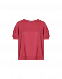 MIMOSA: T-shirt rossa con spalle scese