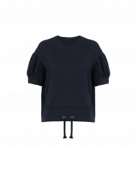 TACTIC: Navy gathered sleeve t-shirt