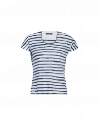 VERIFY: Navy stripe V-neck jersey t-shirt