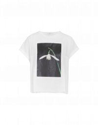 DEPICTION: T-shirt in cotone con stampa<br /><br />• ArtistsAtHIGH