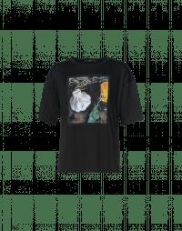 CREATOR: T-shirt nera con stampa frontale
