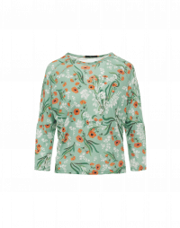 FAVOURITE: Long sleeve t-shirt in cream with apricot and green floral