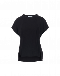 PARADOX: T-shirt squadrata in jersey nero