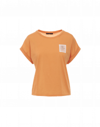TIMELY: Wide cut tangerine t-shirt