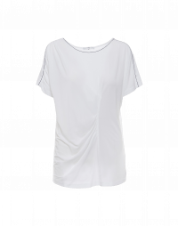 SET FREE: T-shirt in jersey di rayon con arricciatura frontale