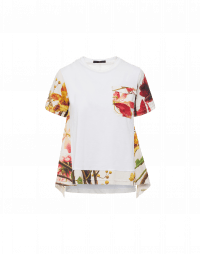 PLEASURE: Photo-floral print details t-shirt