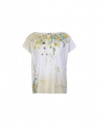 STENCIL: Wild flower placed print tee