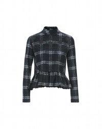 MIASMA: Blue tartan fleece sweater