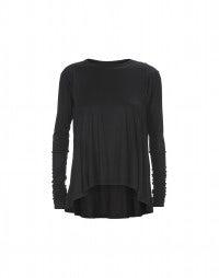 MOOD: Black modal long sleeve top
