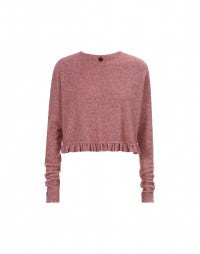 PATHOS: Cherry marl frill sweater