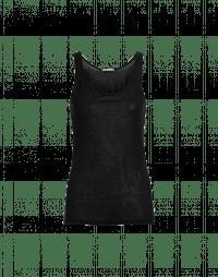 PRY: Superfine black jersey tank top