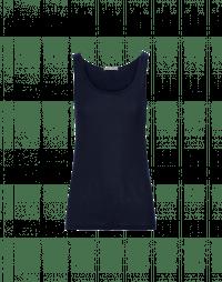 PRY: Superfine blue jersey tank top