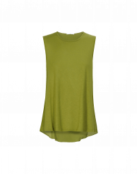 WAIF: Top a canotta in raso di seta e rayon verde salvia