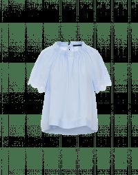 QUIETUDE: Short raglan sleeve shirt with embroidery