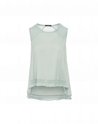 BE-PATIENT: Multi-panel flare-out tank in cotton