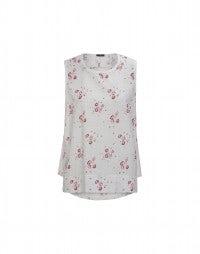 STANZA: Achselshirt mit rotem Blumendruck