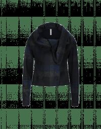 SHAMAL: Shawl collar jacket in jersey check