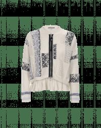 ADORE: Cardigan con zip in maglia ad intreccio variegato
