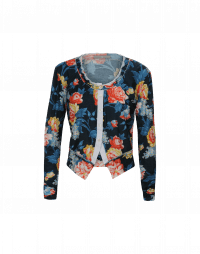 IMAGINE: Cardigan in jersey con stampa floreale