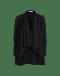 ADVANCE: Draped shawl collar cardigan in jersey