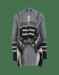 PERPETUAL: Cardigan multi pattern con collo a scialle