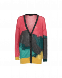 HECTIC: Cardigan in mohair nylon multi-colour