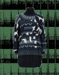 PARTICIPATE: Abito-maglia stampato con motivo camouflage e fair isle