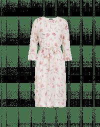 VIBRANT: Abito a tunica con motivo floreale color crema
