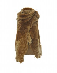 DAUNTLESS: Caramel shearling panel gilet