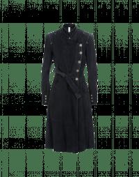 MAGNITUTDE: Cappotto doppio petto in camoscio color blu navy