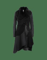 RAISE-UP: Cappotto nero in shearling